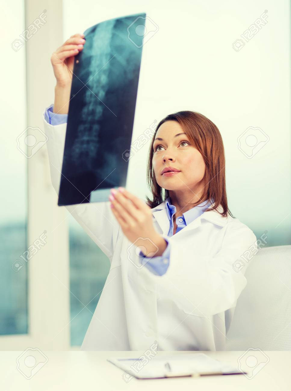 Healthcare Medical And Radiology Concept Concentrated Doctor