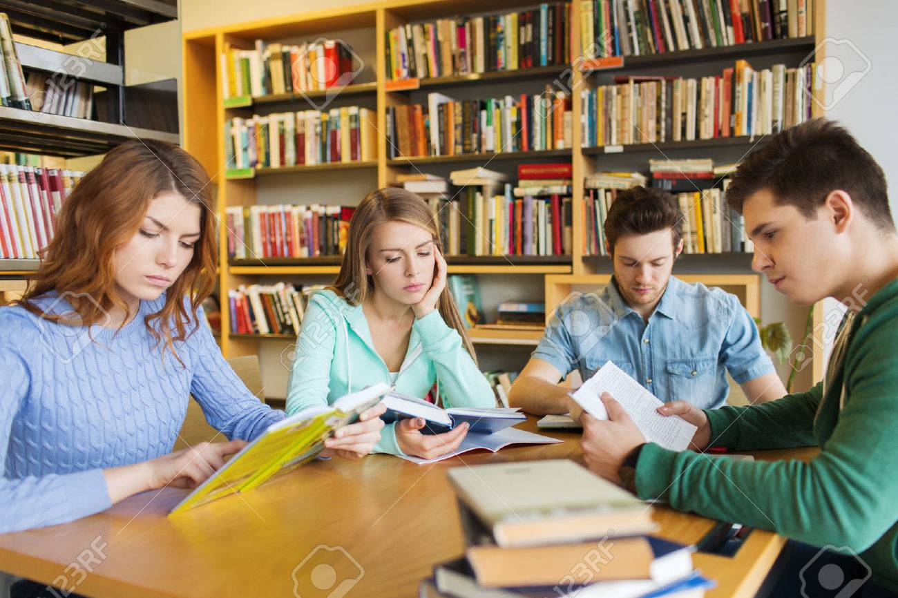 people knowledge education literature and school concept
