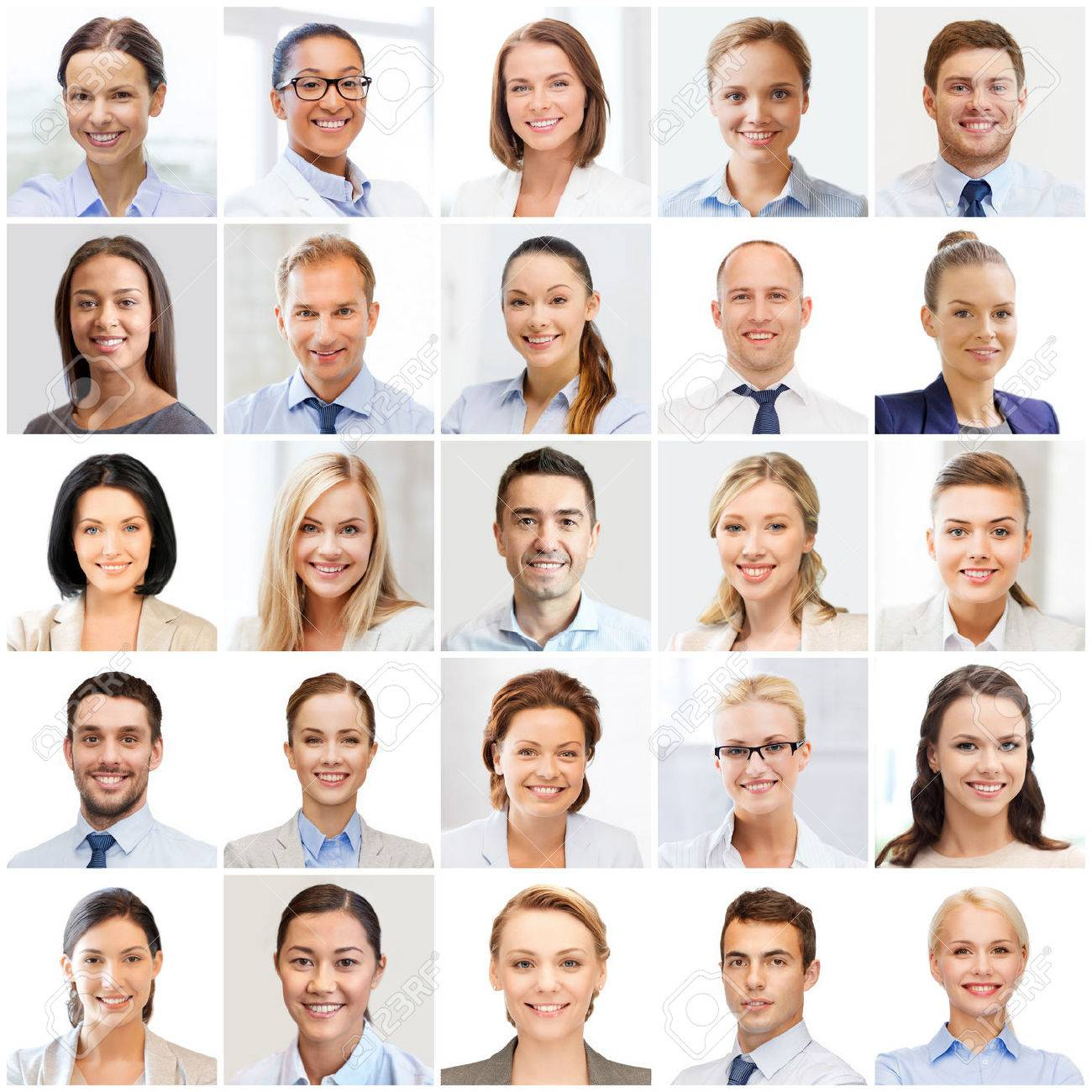 success concept - collage with many business people portraits - 47509527