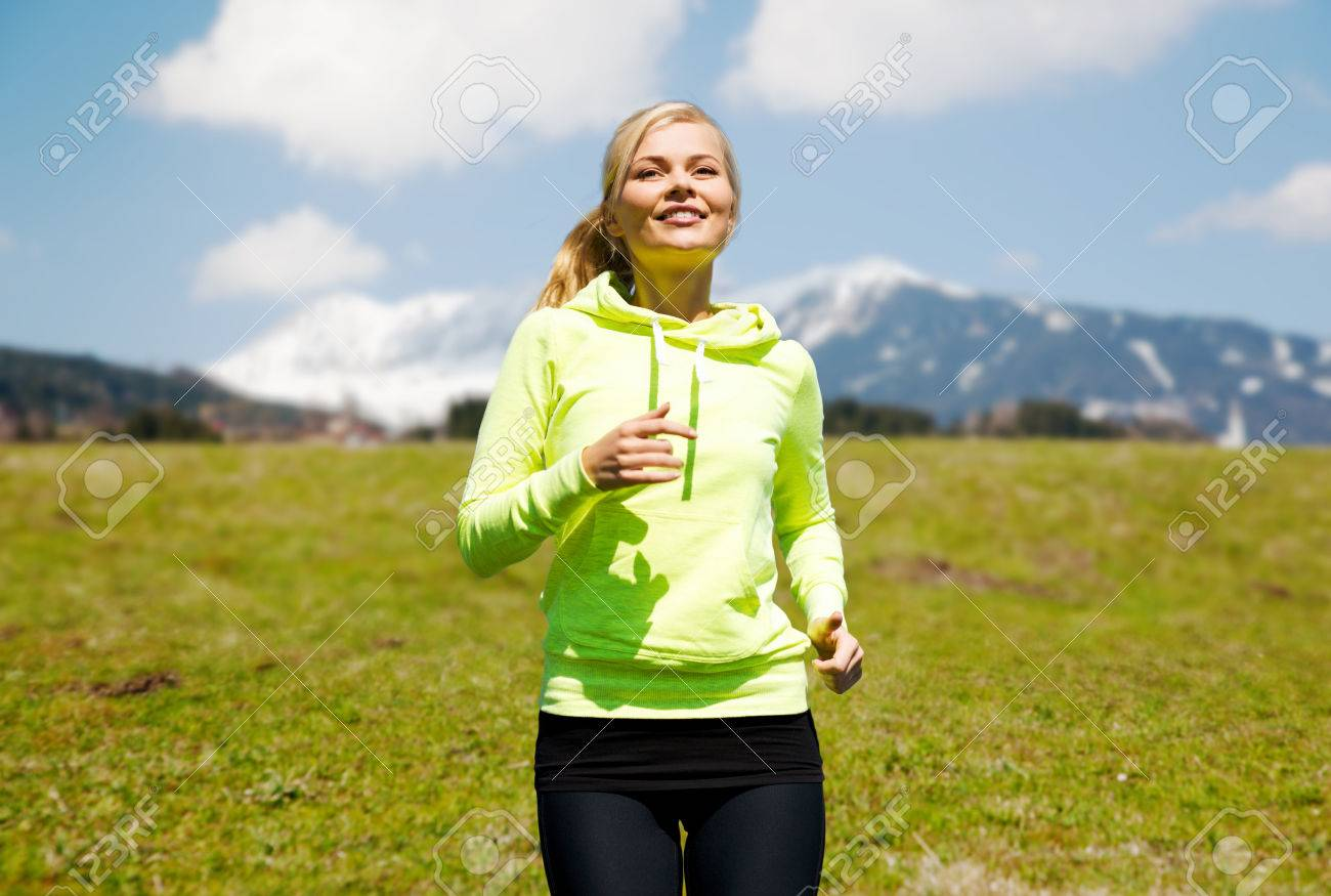 Fitness Sport People And Healthy Lifestyle Concept Happy