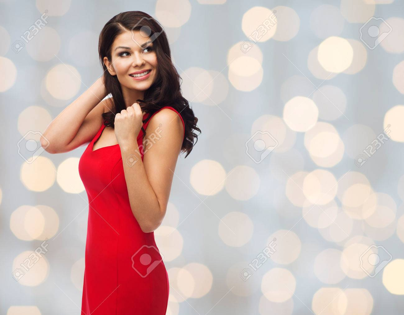 Red dress for holidays