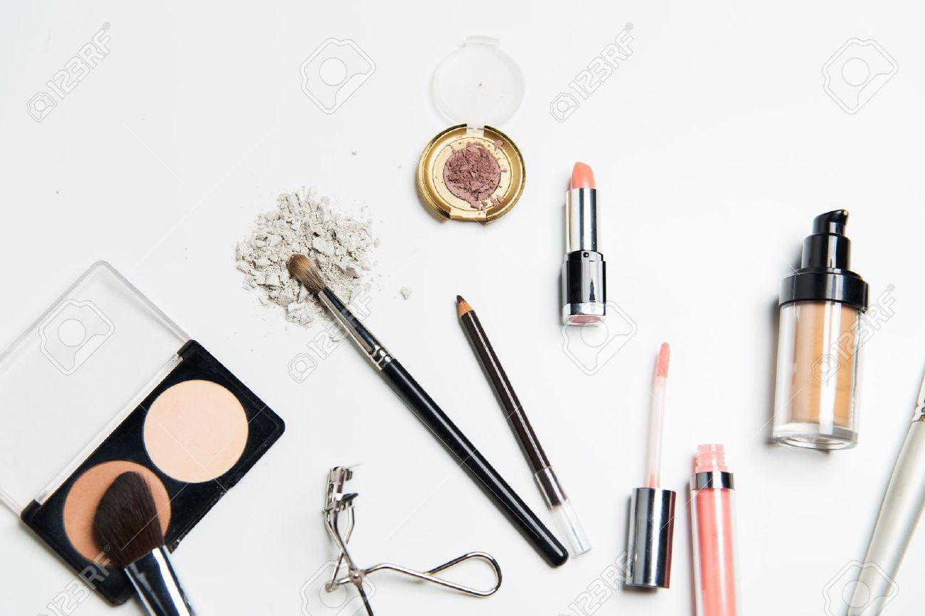 cosmetics, makeup and beauty concept - close up of makeup stuff - 52115493