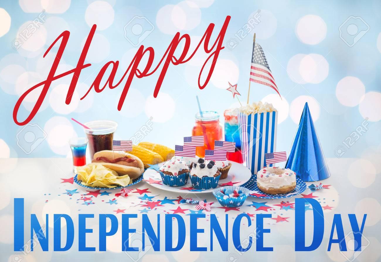 Glücklich Tag Der Unabhängigkeit, Nationale Feiertage, Feiern, Essen ...