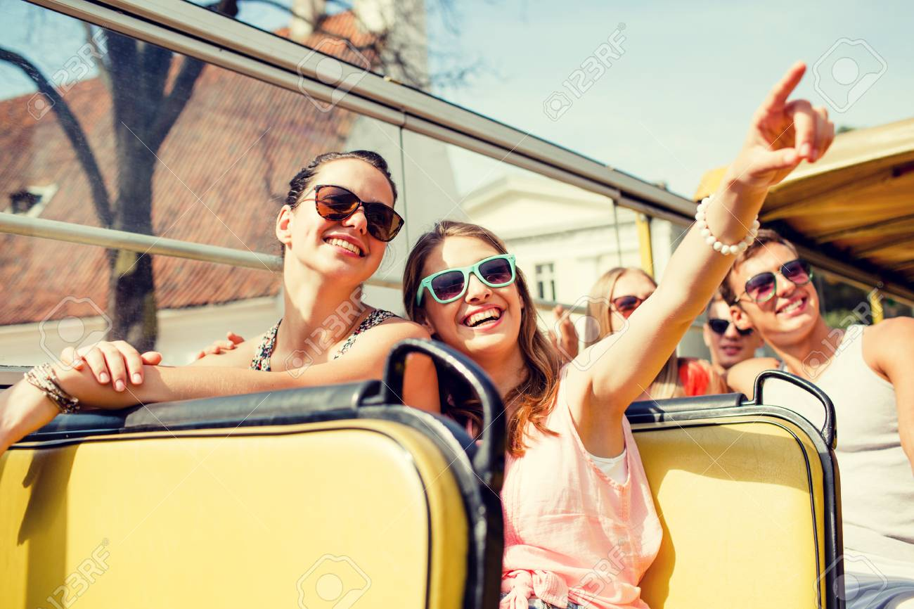 Friendship Travel Vacation Summer And People Concept Group Stock Photo Picture And Royalty Free Image Image 57601273