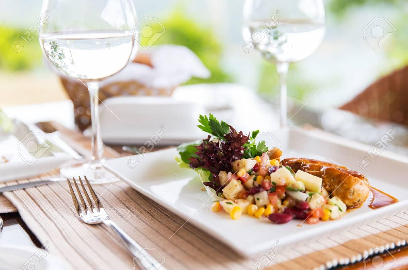 Essen Kochen Und Essen Konzept Nahaufnahme Von Fleischgericht Mit