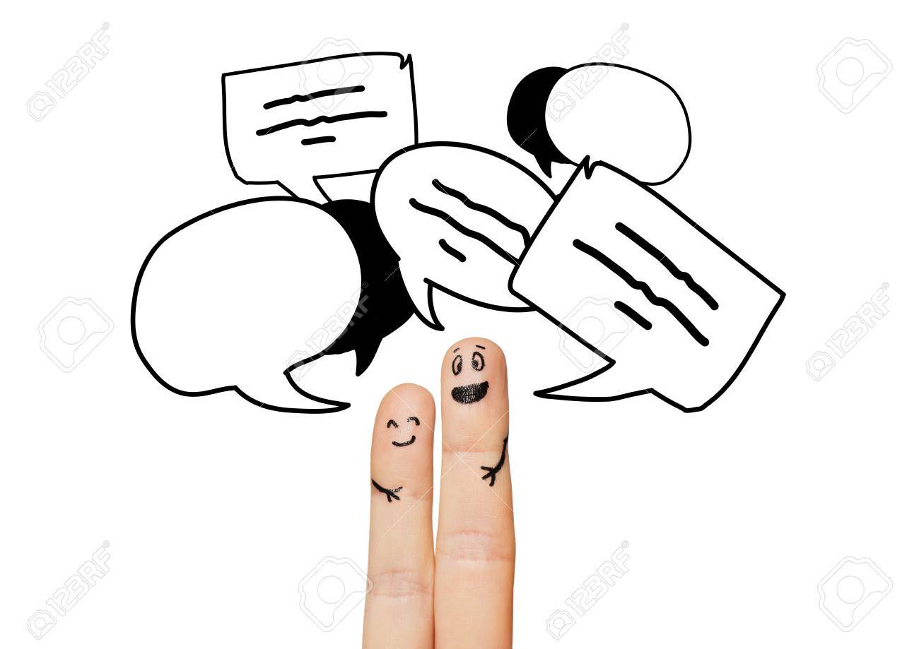 Communication Family Couple People And Body Parts Concept Stock