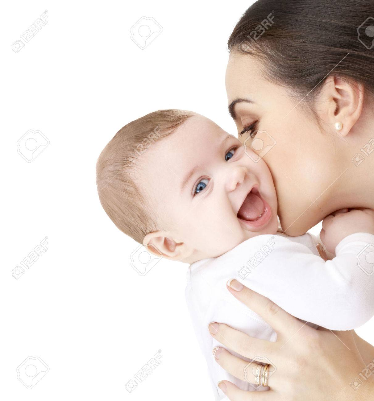 Family Parenting And Child Care Concept Happy Mother Kissing Stock Photo Picture And Royalty Free Image Image 62582307