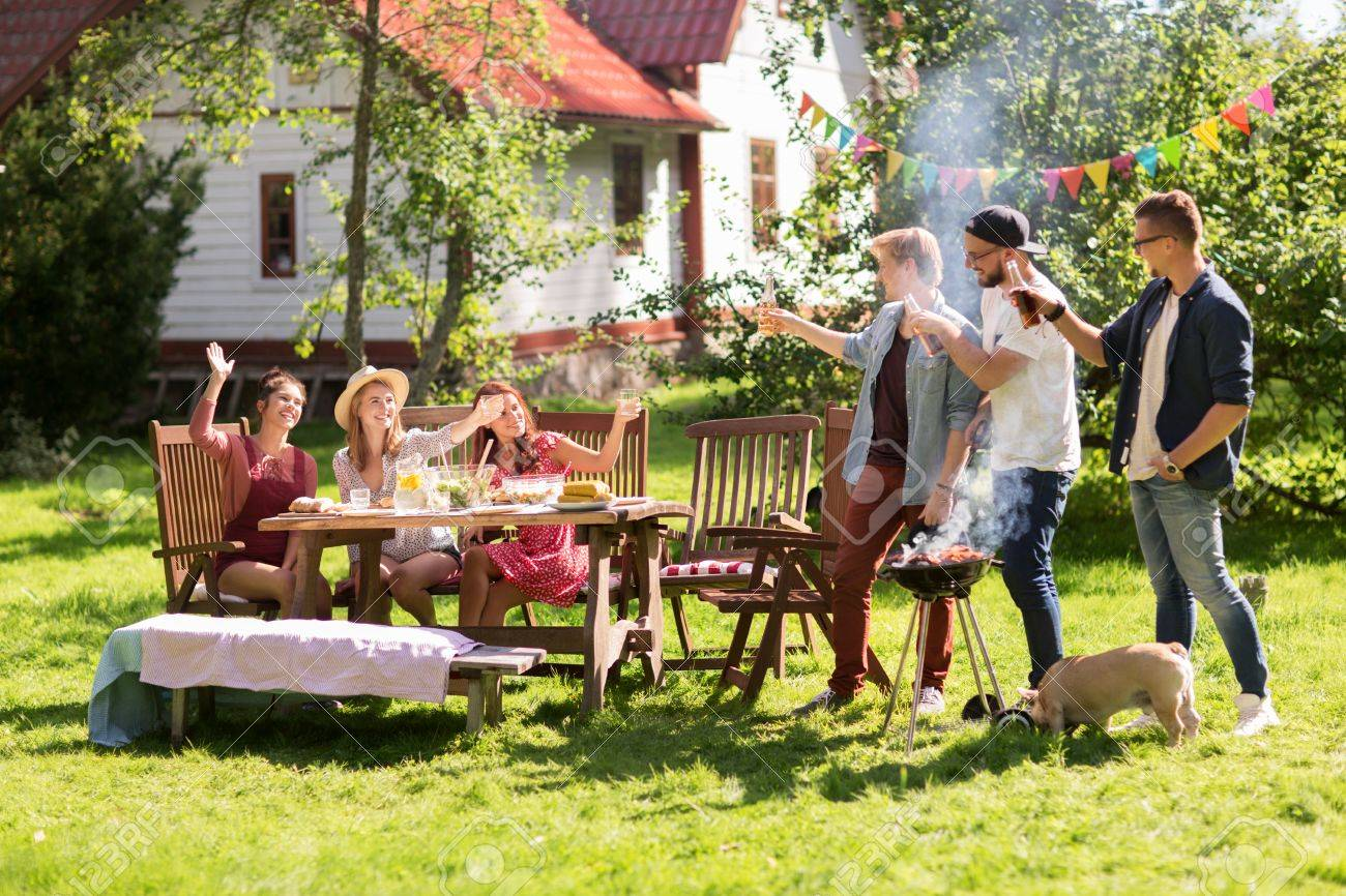Leisure Food People Friendship And Holidays Concept