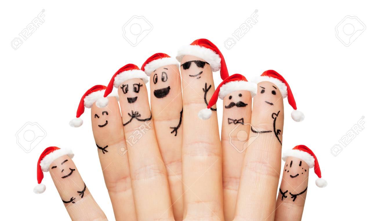 Familie, Ferien, Konzept Weihnachten Und Körperteile - In Der Nähe ...