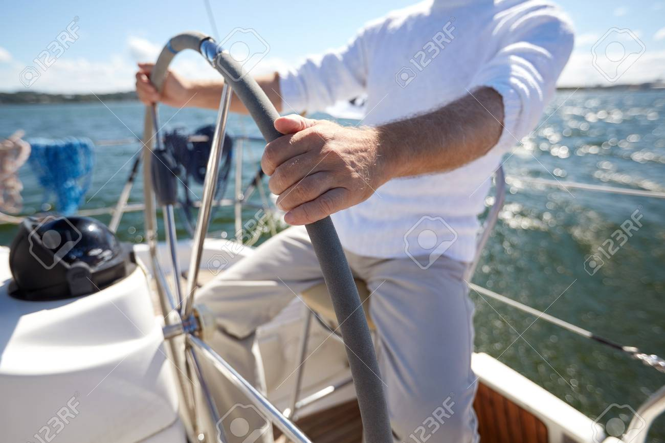 sailing, age, tourism, travel and people concept - close up of
