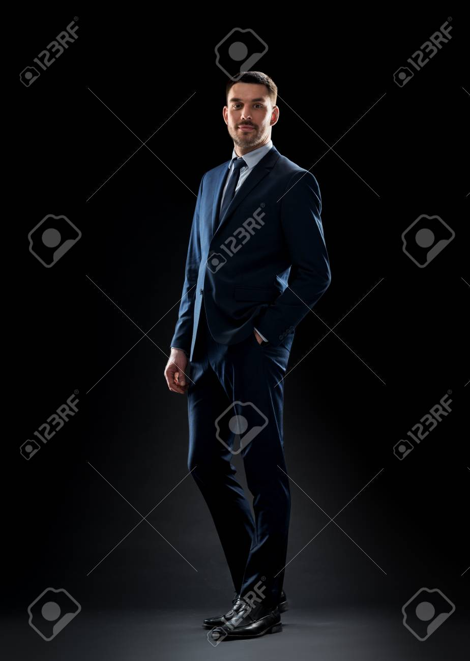18fdf2b4 business, people, formal wear, fashion and office style concept -  businessman in suit