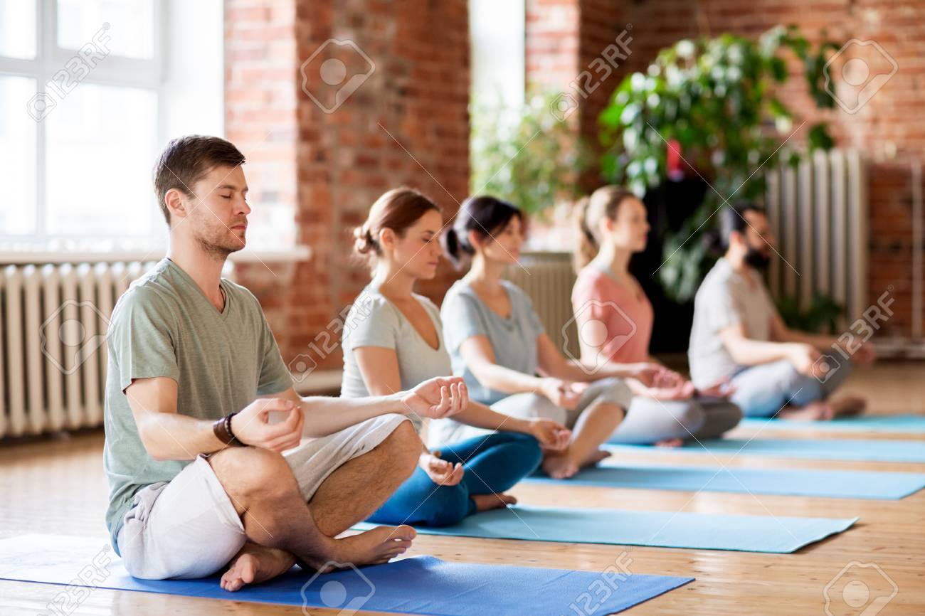 Fitness Yoga And Healthy Lifestyle Concept