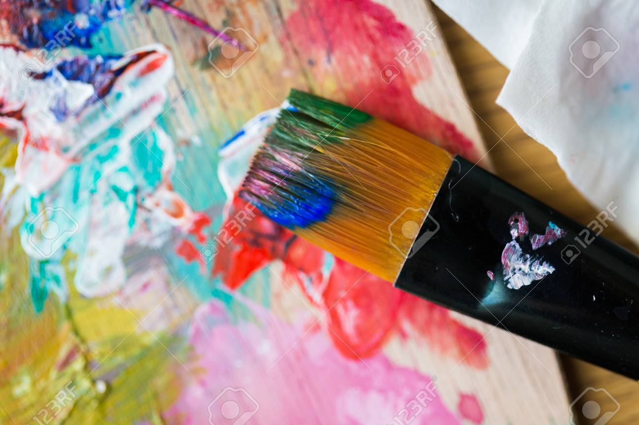 Fine Art Creativity Painting And Artistic Tools Concept Close Stock Photo Picture And Royalty Free Image Image 92984373