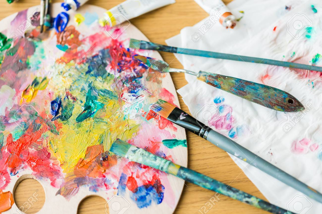 Fine Art Creativity And Artistic Tools Concept Palette Knives Stock Photo Picture And Royalty Free Image Image 93050802