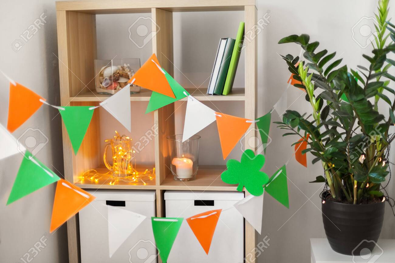 Home Interior Decorated For St Patricks Day Party Stock Photo Picture And Royalty Free Image Image 114834544