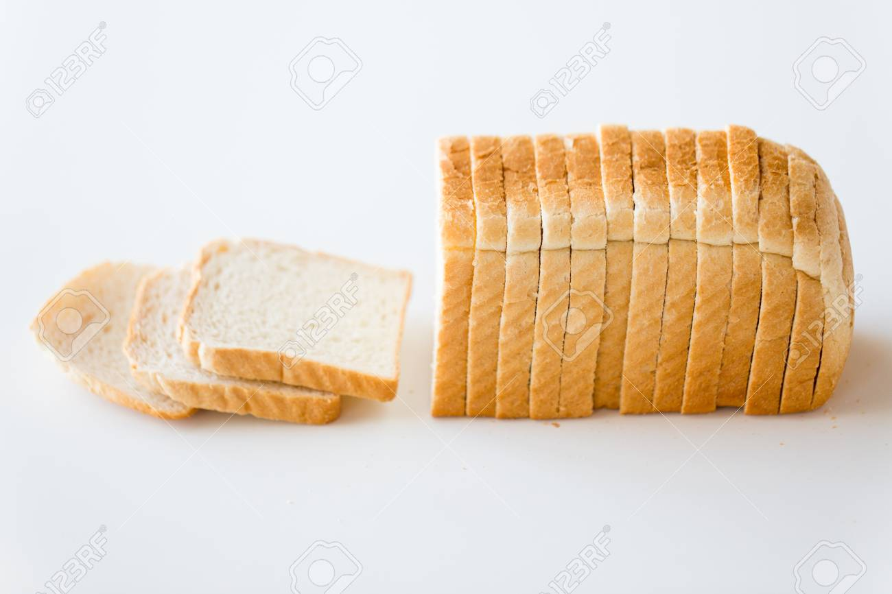 close up of white toast bread - 120058582
