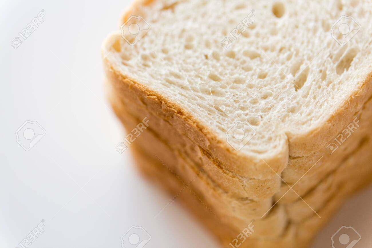 close up of white toast bread - 120796607