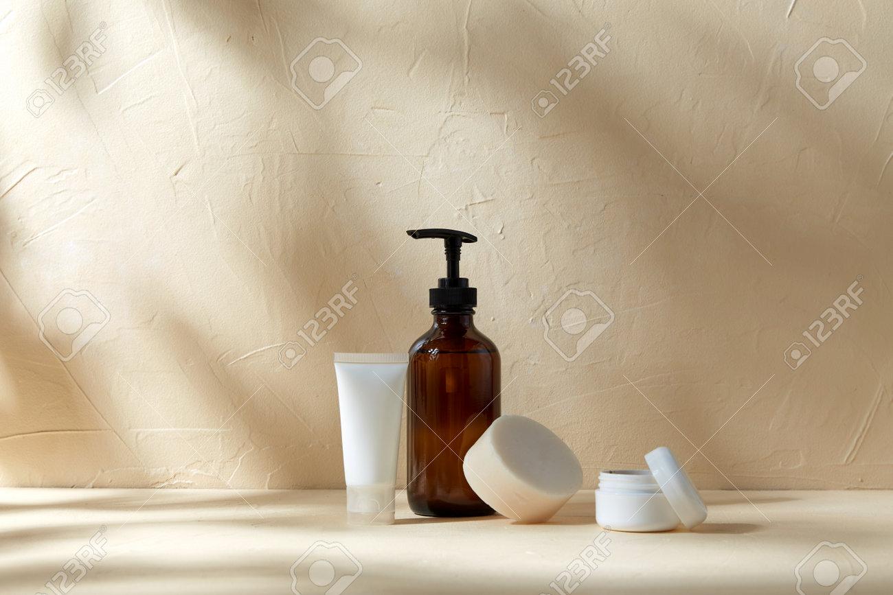 shower gel, soap, moisturizer and body scrub - 169965910