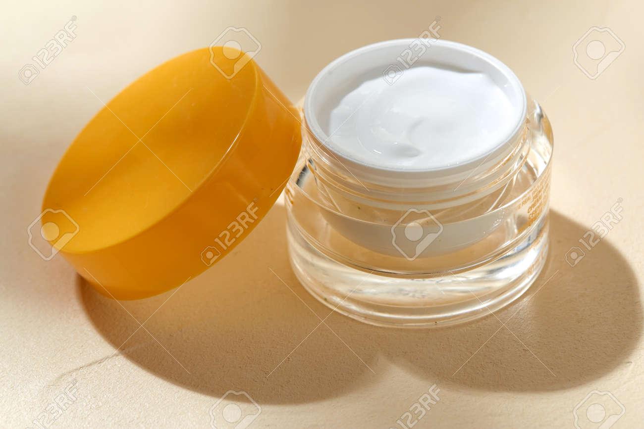 close up of moisturizer in jar - 169966364
