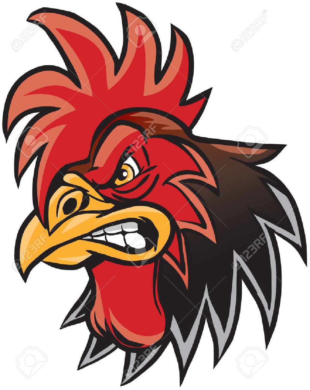 vector cartoon clip art illustration of a rooster or gamecock rh 123rf com usc gamecock clipart free usc gamecock clipart free