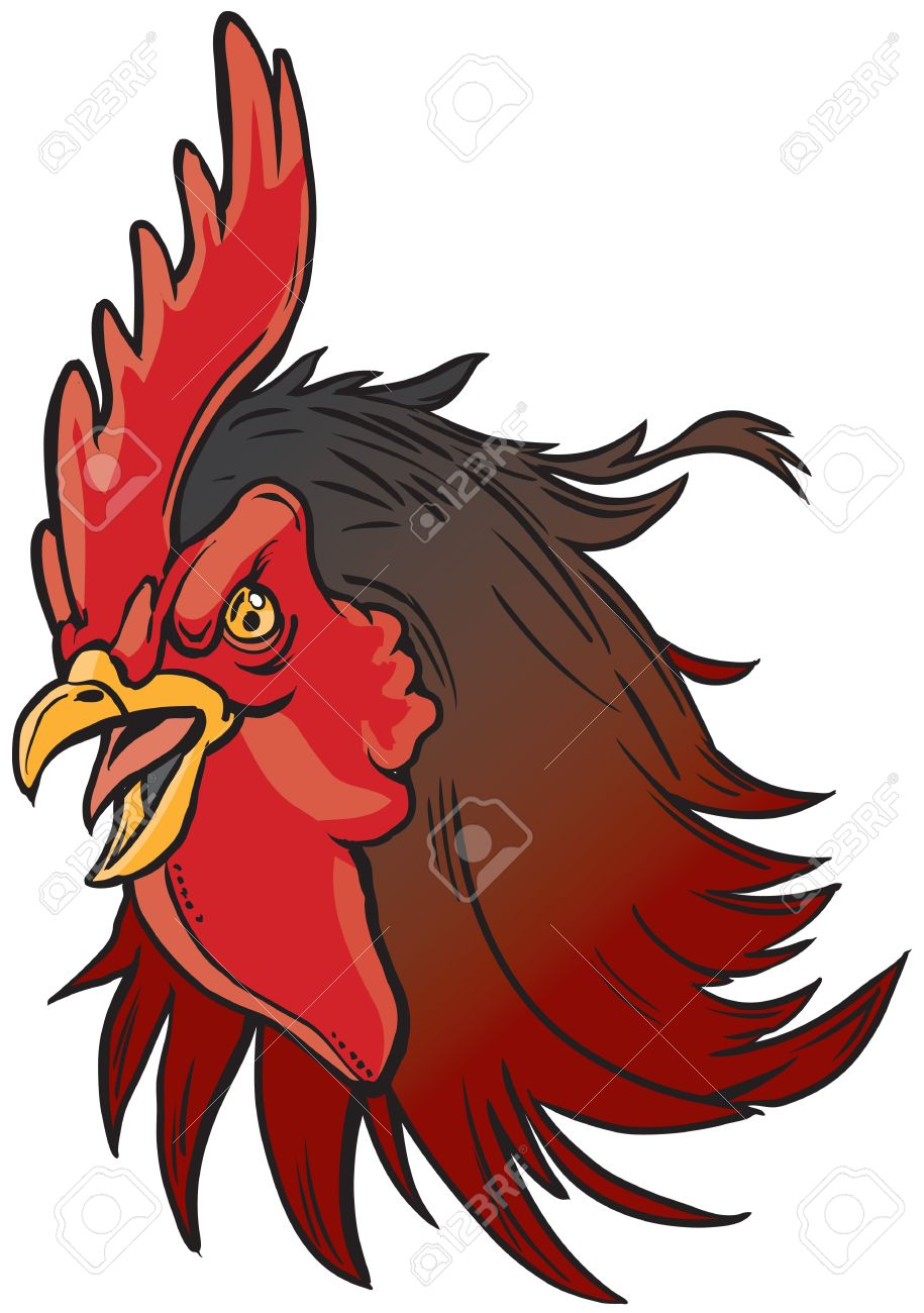 vector cartoon clip art illustration of a realistic rooster or rh 123rf com usc gamecock clipart free carolina gamecock clipart free