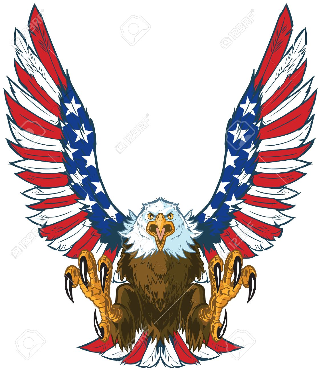 4 692 bald eagle stock vector illustration and royalty free bald rh 123rf com american flag eagle clipart american eagle clipart black and white