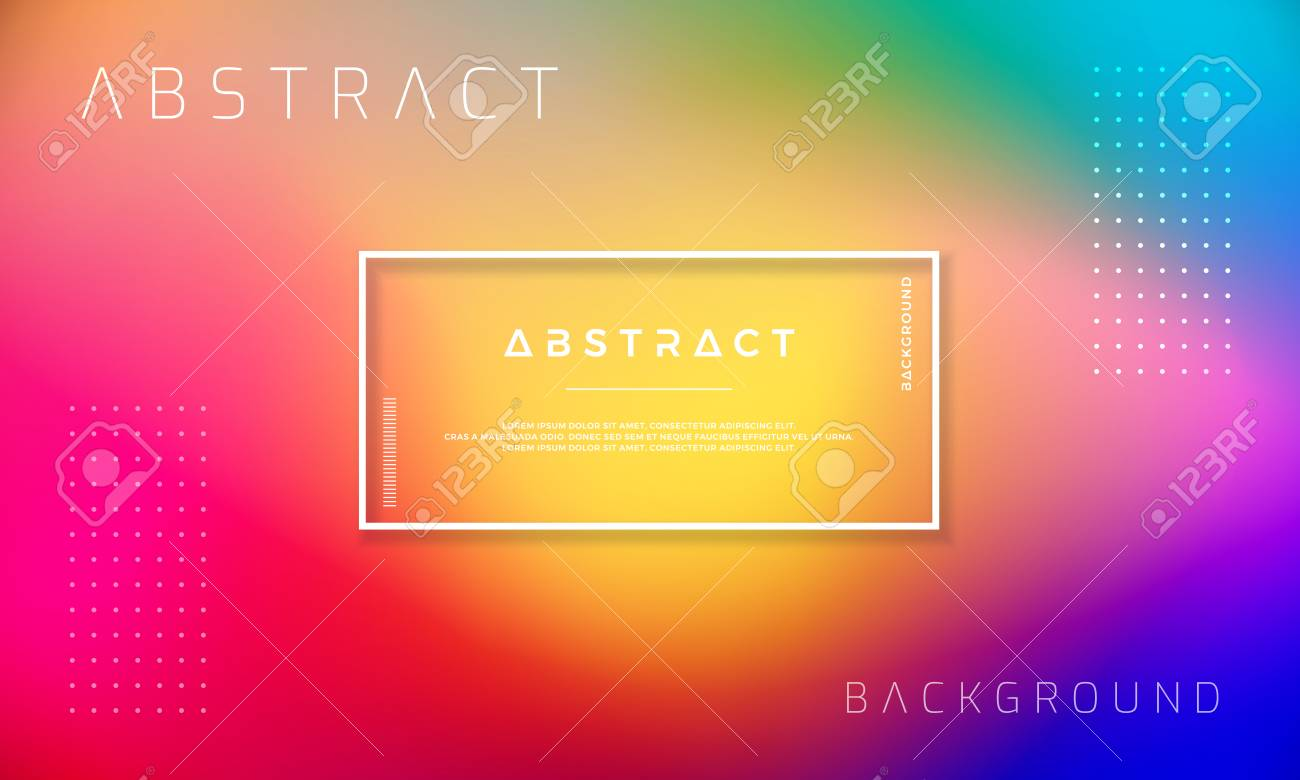 Abstract Dynamic background design with colorful gradient shapes. - 126747511