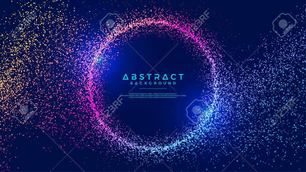 Dynamic abstract liquid flow particles background. Shining abstract particle flow background. Futuristic background with dots combination. Eps10 Vector background. - 117615304