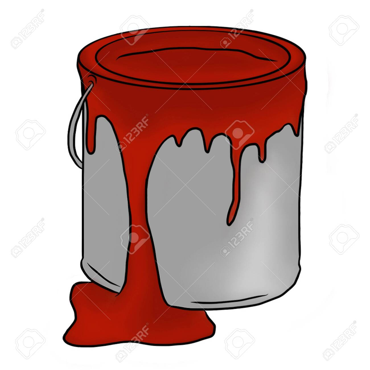 Paint Bucket Illustration Stock Photo Picture And Royalty Free Image Image 115411793