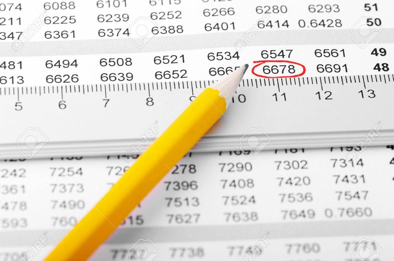 Pencil on a chart with ruler. Stock Photo - 5967560
