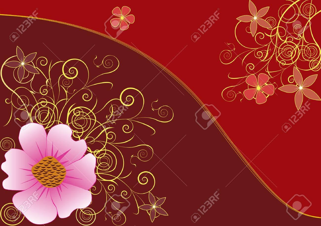 Floral elegant background. Golden flower background Stock Vector - 6335021