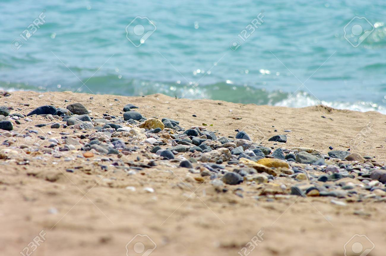 beach and sea. beach with golden sunds Stock Photo - 10406125