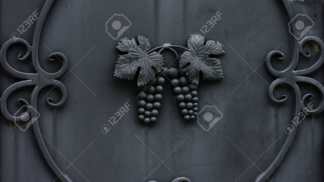 Metallic grape leaves and cluster ornaments Stock Photo - 10504477
