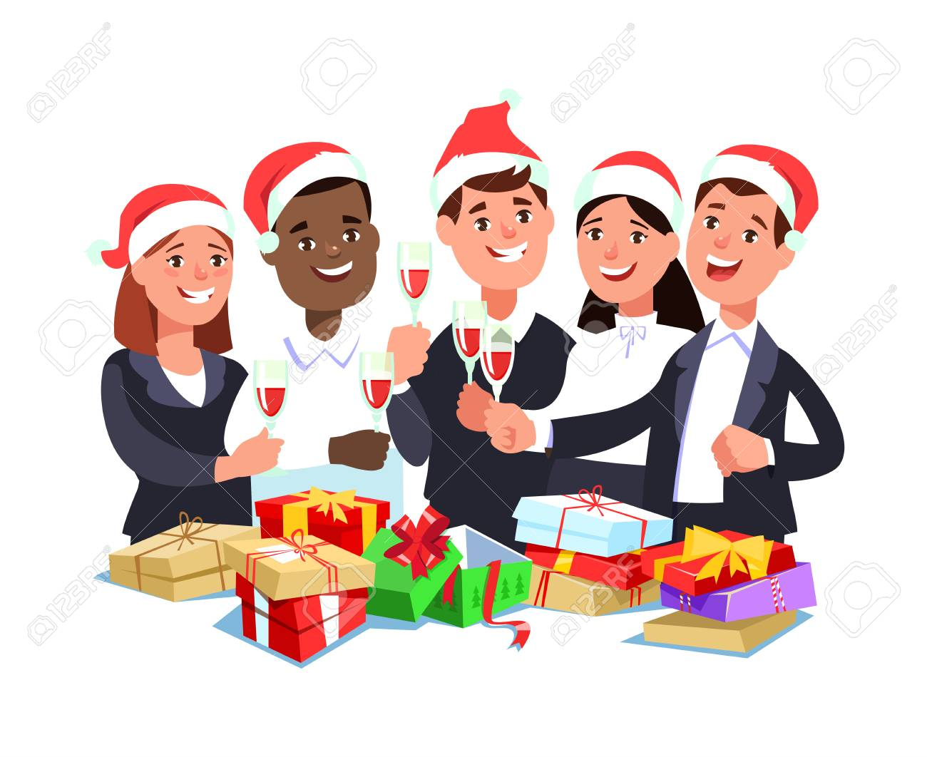 Office Christmas Party Clipart 90928 | USBDATA