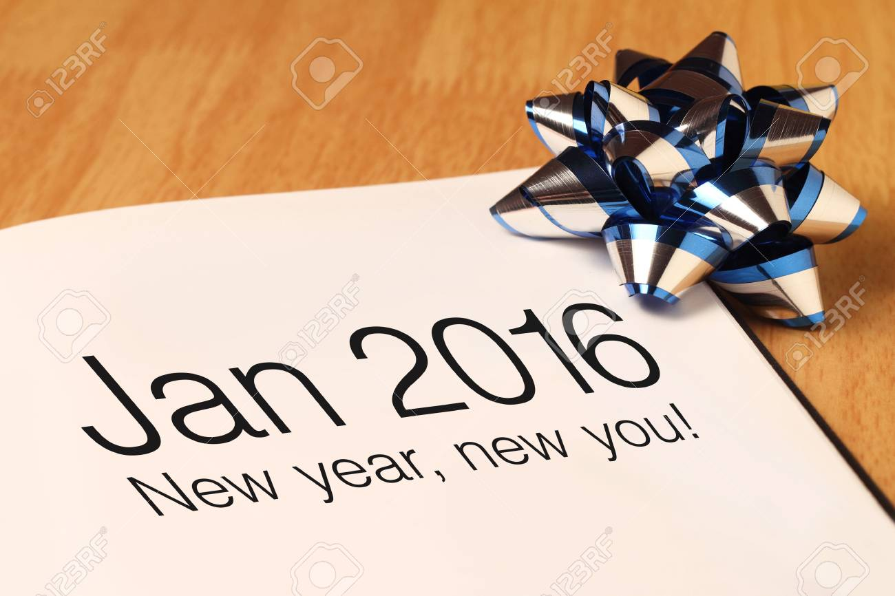 New Year Greetings With Blue Color Decorations New Year Is The