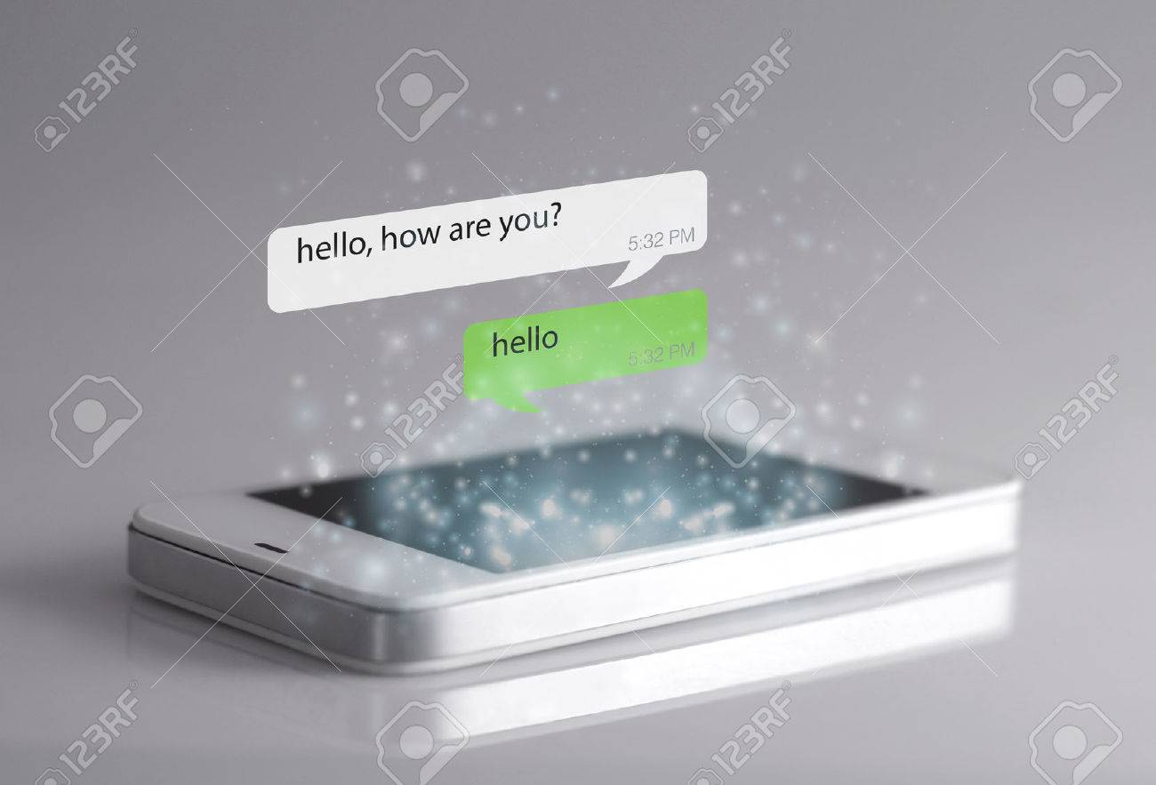 Smartphone And Message Icons. A Message Is A Short Communication ...
