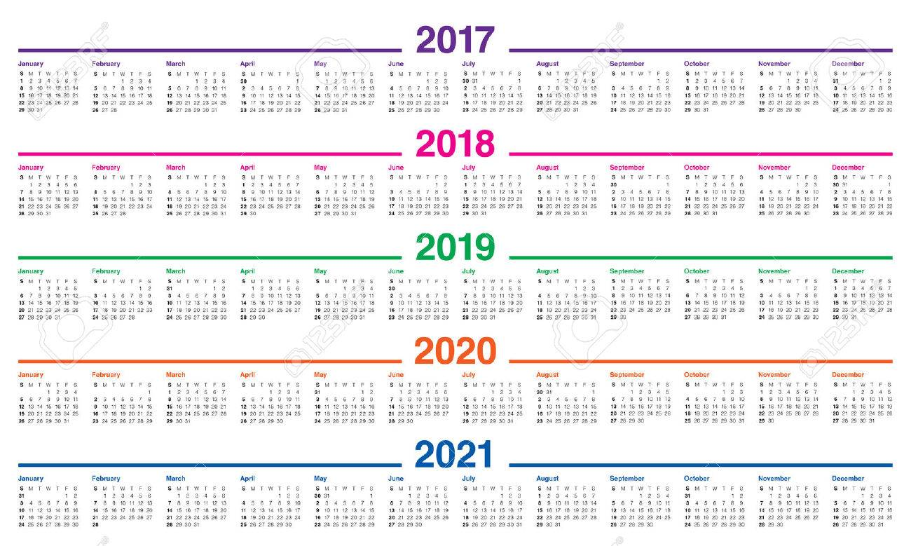 Calendrier Free 2019.Simple Calendar Template For 2017 2018 2019 2020 And 2021