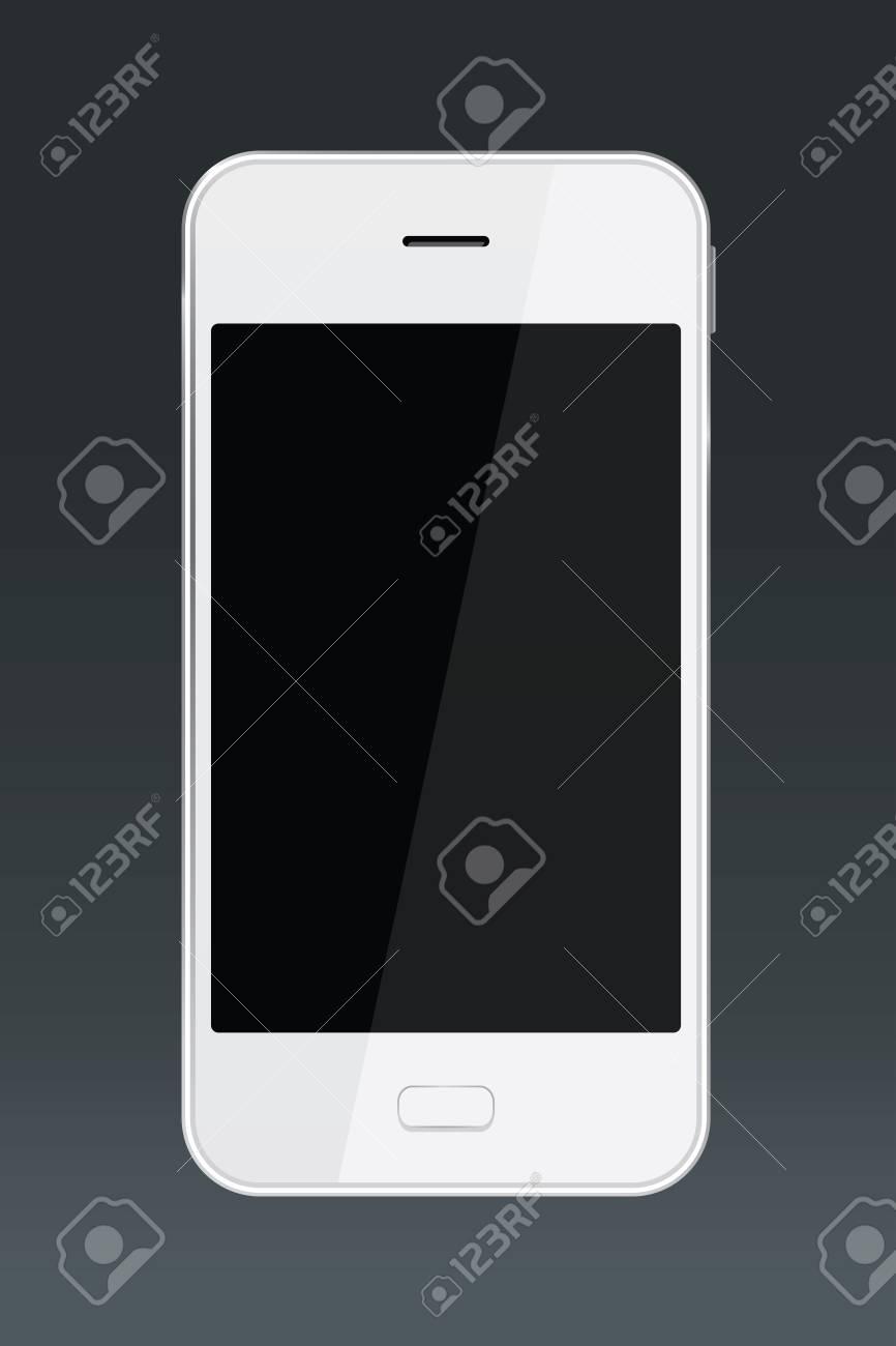 Immagini Stock Smartphone Bianco Isolato Su Sfondo Nero Uno