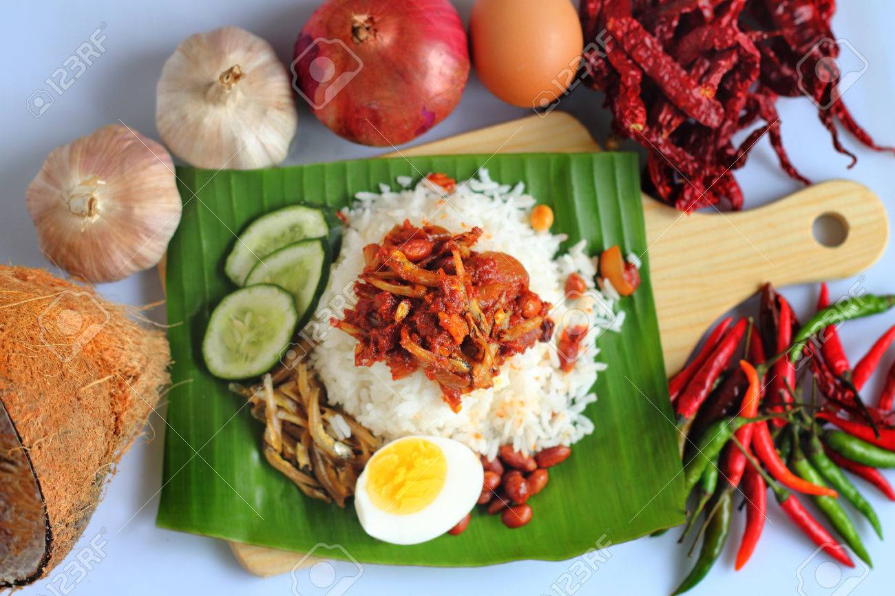 Nasi Lemak Is A Malay Fragrant Rice Dish Cooked In Coconut Milk