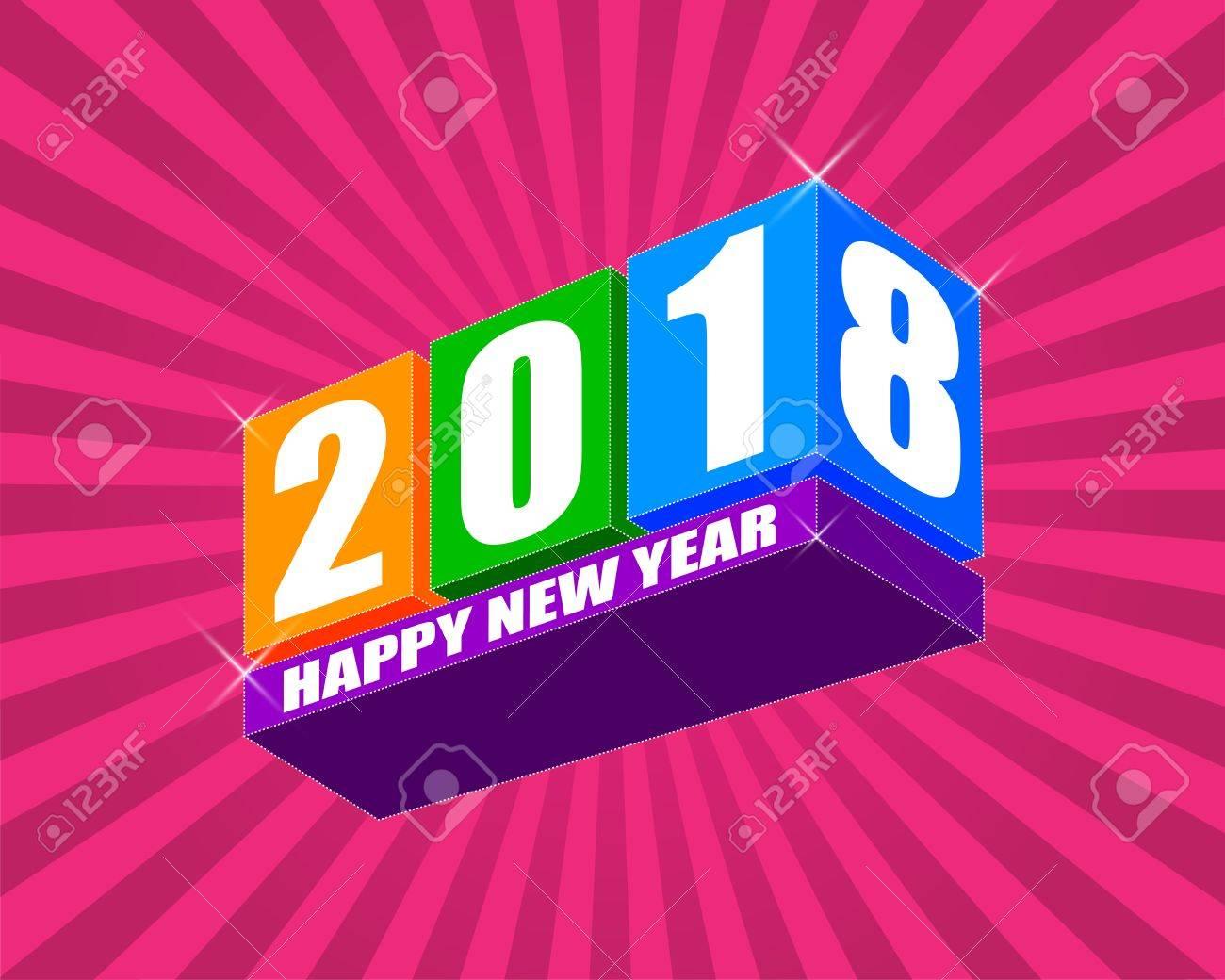 Frohes Neues Jahr 2018, Wünschen Ihnen Alles Gute Wie Immer In ...