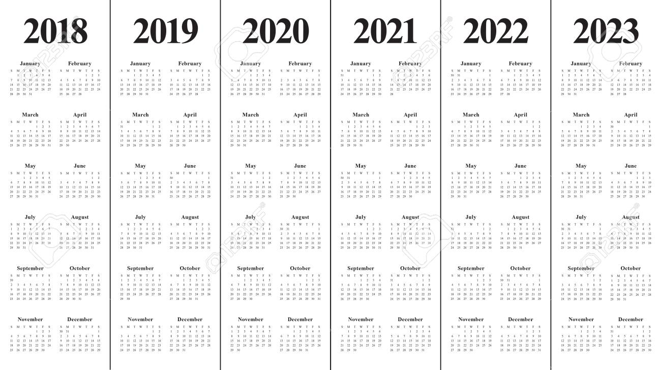 photograph about 2022 Calendar Printable identify Calendar year 2018 2019 2020 2021 2022 2023 calendar vector style and design template,..