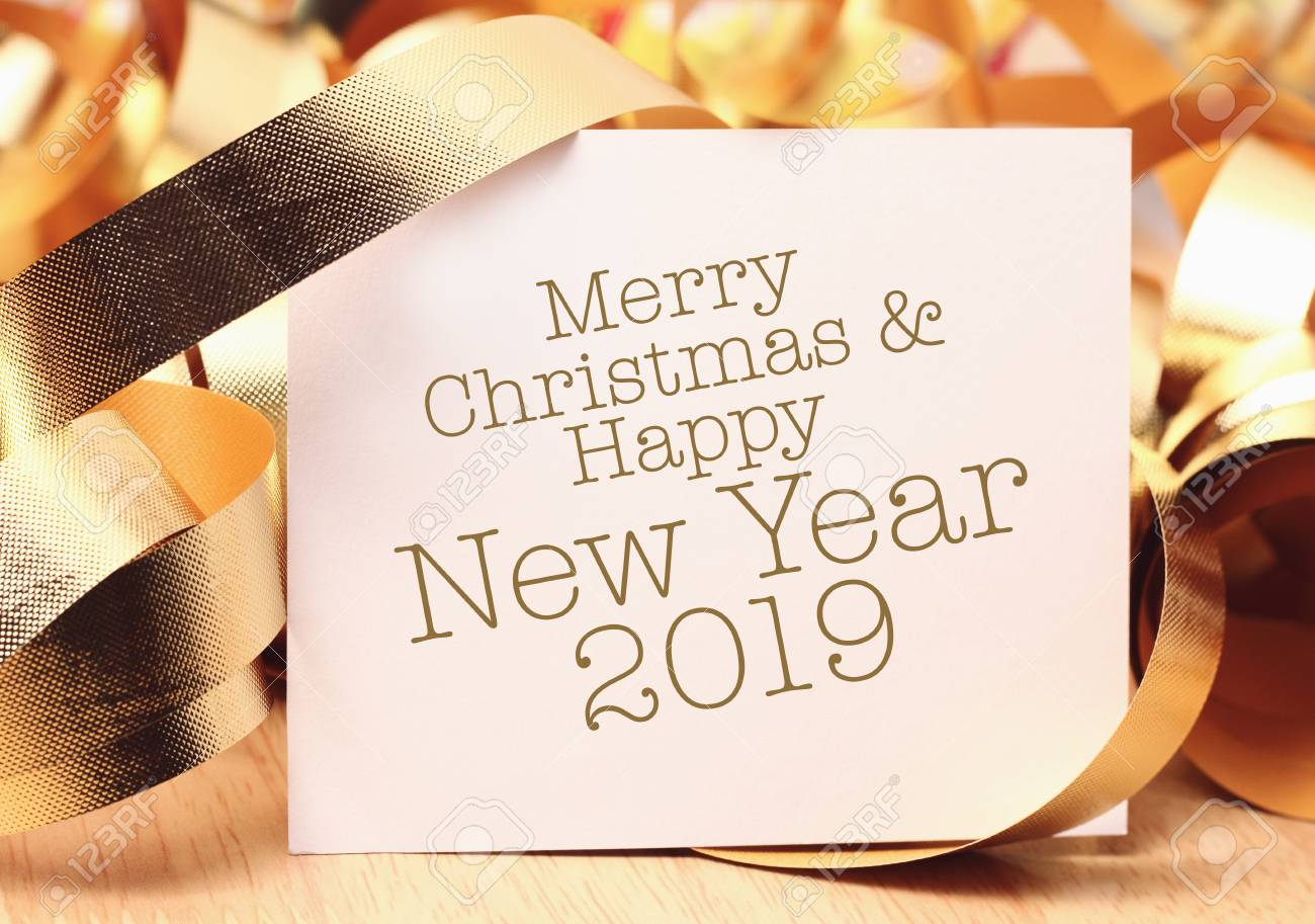 merry christmas and happy new year 2019 we wish you a new year filled with