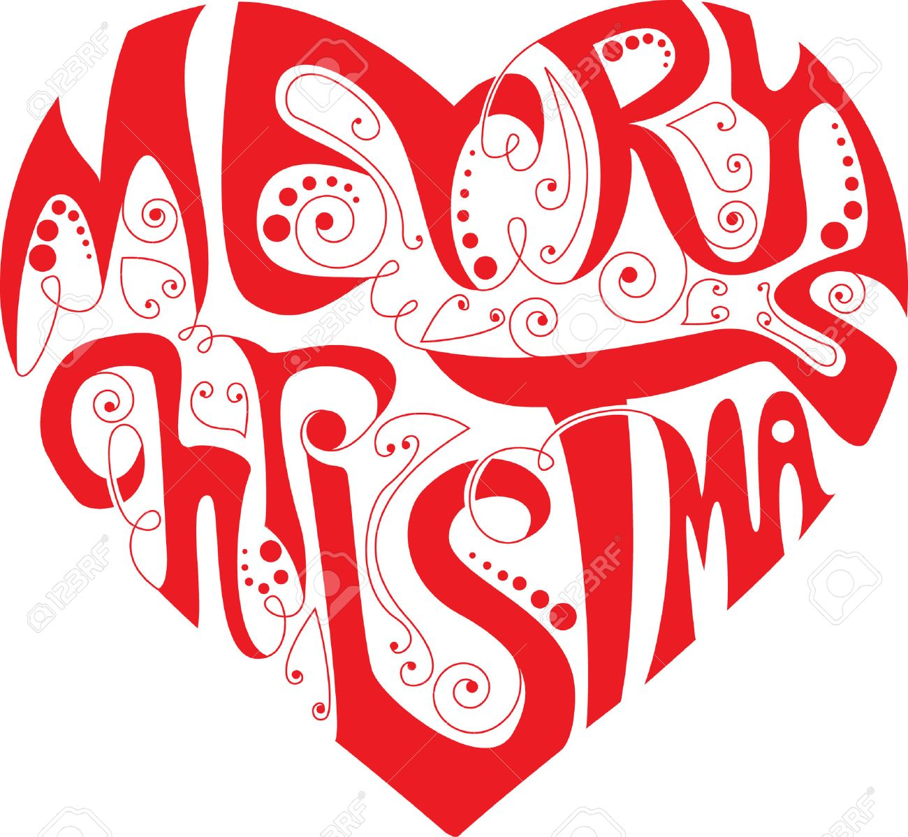 Christmas Heart.Merry Christmas Heart