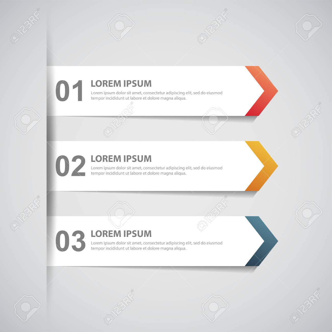Design-Vorlage Für Saubere Nummeriert Banner, Infografiken, Grafik ...