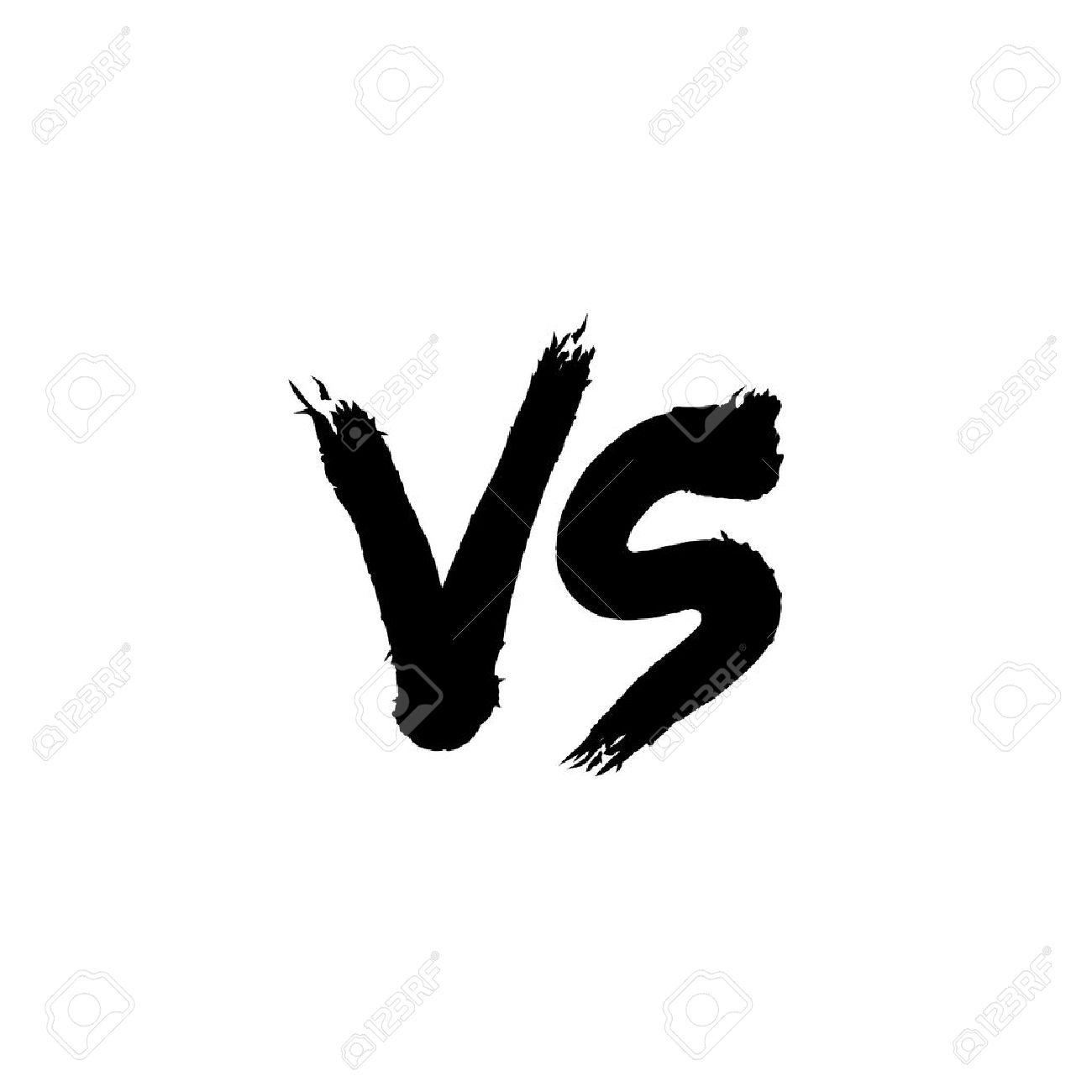 Symbol Competition Vs Vector Illustration Stock Vector