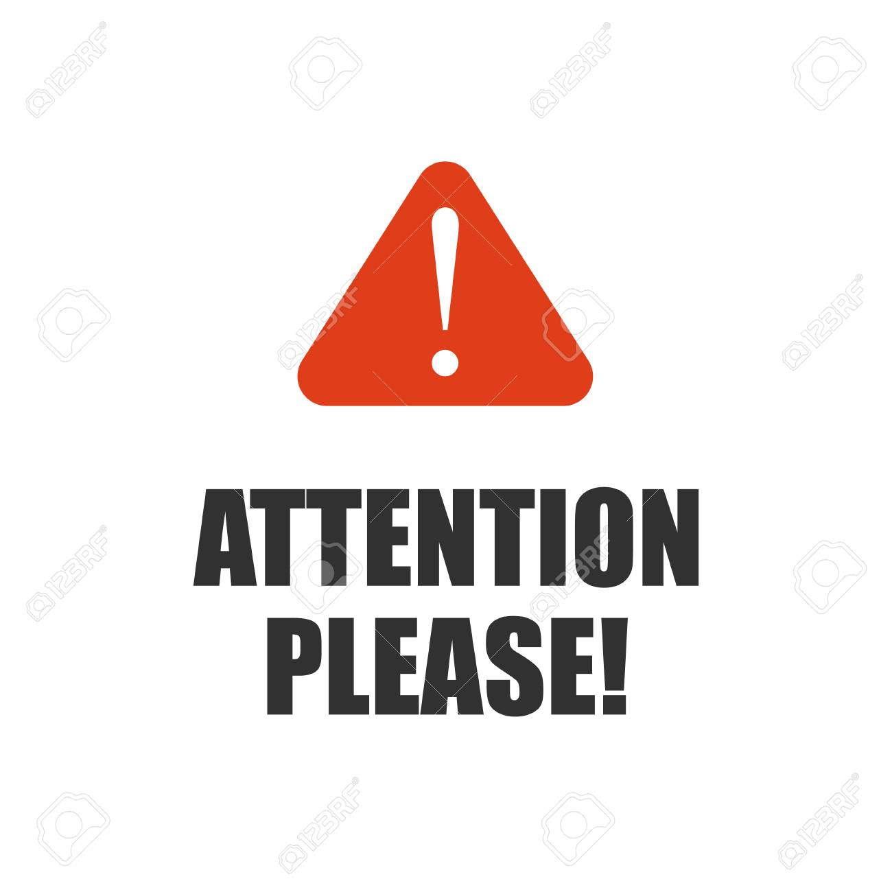 Attention please, important message badge or banner on isolated background. Vector. - 90945968