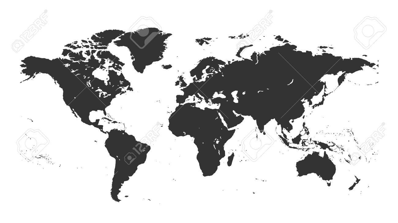 Black isolated detailed world map on white background design black isolated detailed world map on white background design world map vector template a gumiabroncs Images