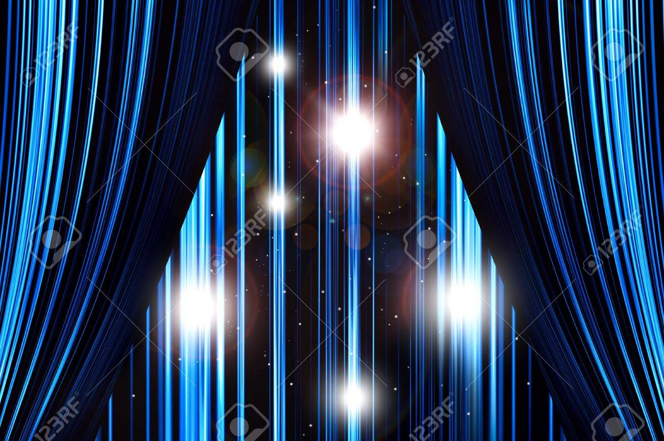 Bl blue stage curtains background - Blue Stage Curtain Background Blue Stage Curtains Background Blue Stage Curtain On Spotlight Background Stock