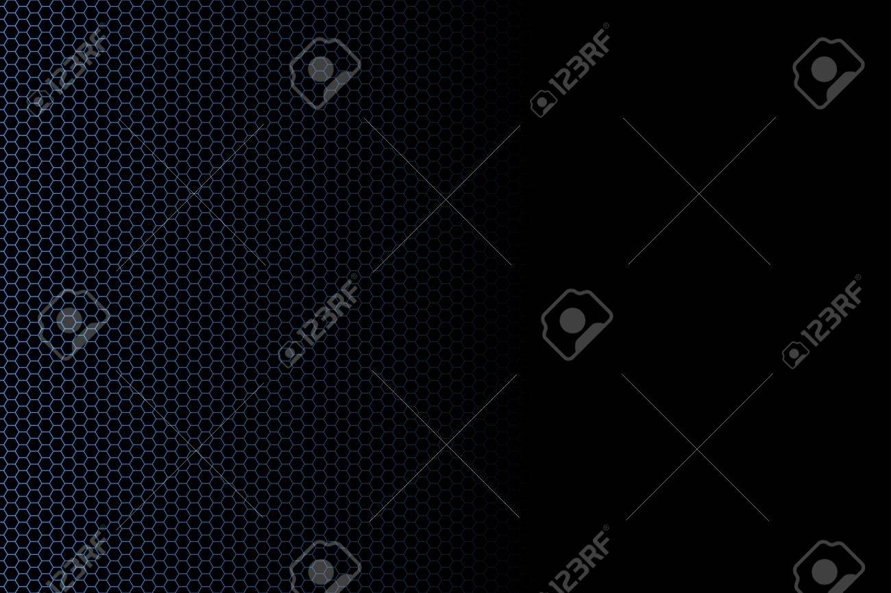 Vector illustration of a hexagon fence technological background fading into black. Banner usage. Stock Illustration - 3351085