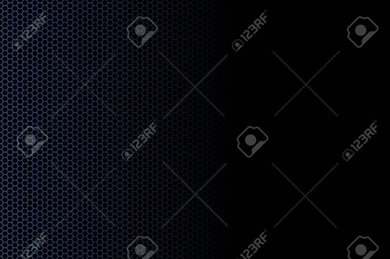 Vector illustration of a hexagon fence technological background fading into black. Banner usage. Stock Vector - 3373278